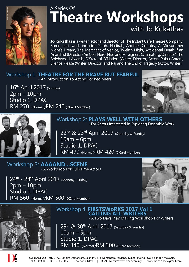 A Series of Theatre Workshops with Guest Artist Jo Kukathas